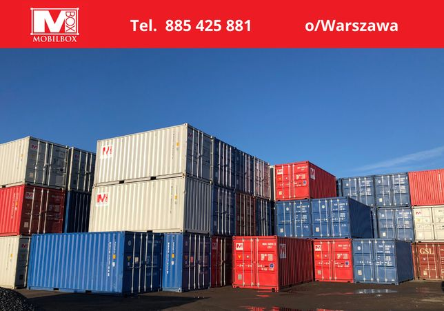 Kontenery magazynowe, kontenery morskie 10' 20' 40'