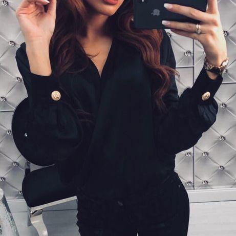Body koszula złote guziki elegancka cudo rozmiar S nowe styl balmain