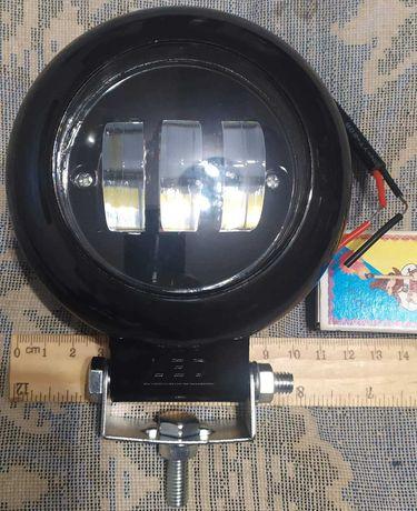 Фара LED 30W. Не слепящая встречных. С четкой СТГ. Водозащита.