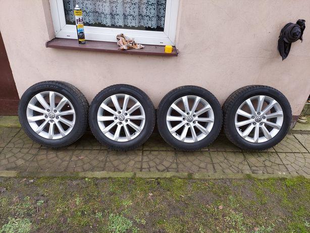 17' 5x112 Sprzedam Felgi z oponami zimowymi. VW/SKODA/AUDI
