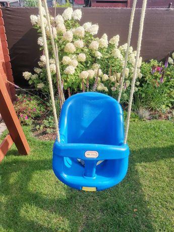 Głęboka huśtawka ogrodowa kubełek Little Tikes niebieska 100% sprawna