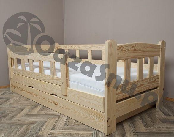 łóżko hiperbezpieczne pojemnik otwierany z boku drewniane BINGO 80x190