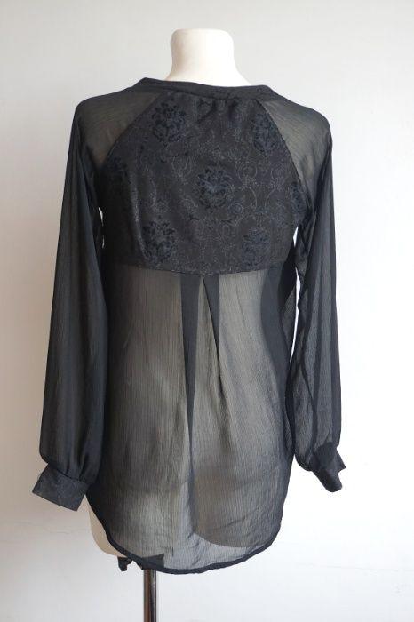 Czarna bluzka szyfon wiskoza S Barczewo - image 1