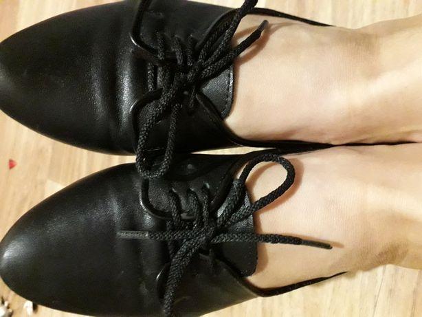 Туфли кожа, на низком ходу