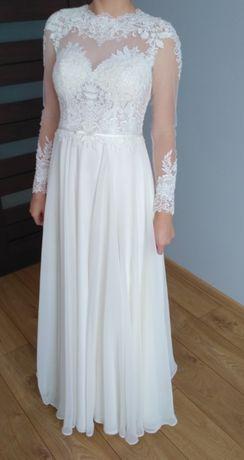 Piękna! romantyczna suknia ślubna