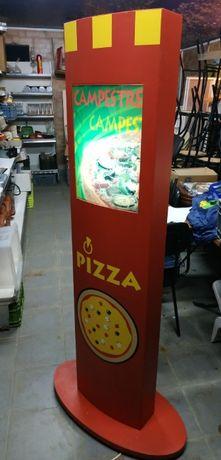 Totem c/iluminação Pizza