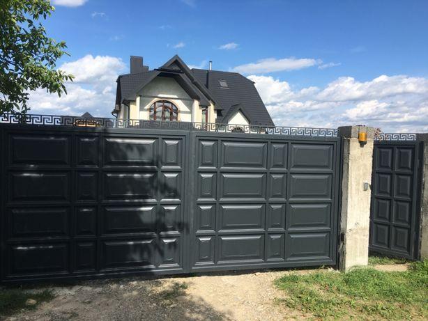 Ворота тафльовані, відкатні, розпашні, паркан, брами,