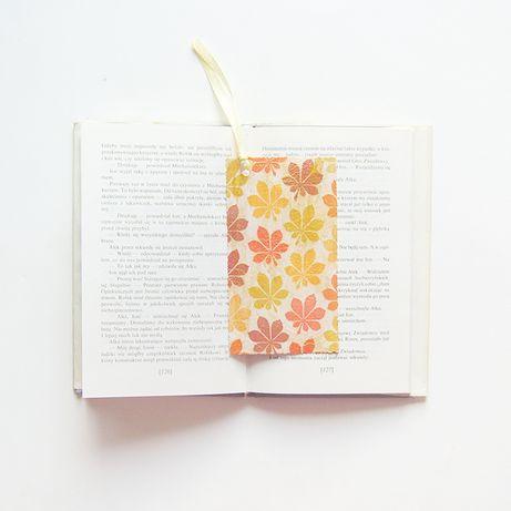 zakładka do książki jesień zakładka, jesienny wzór zakładka jesień