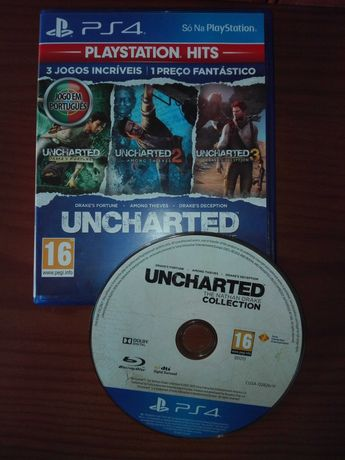 Jogo PS4 Uncharted Nathan Drake Collection + Uncharted 4 A Thief's End