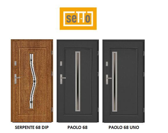 "Drzwi zewnętrzne stalowe Setto Grande 68mm Serpente/Paolo ""80N/90"" L/P"