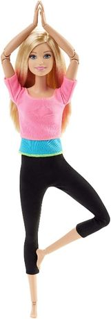 Кукла Барби йога блондинка Безграничные движения Barbie made to move m