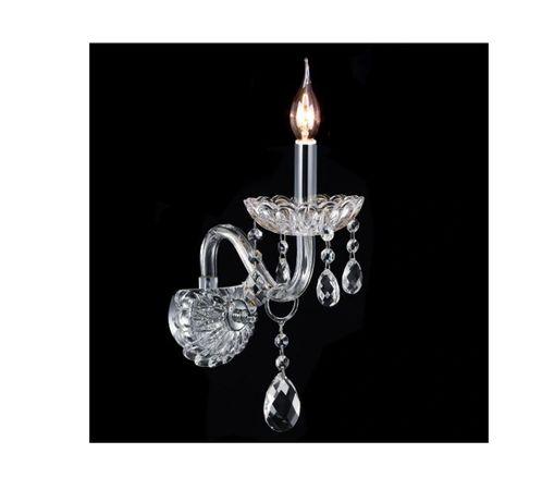 Kinkiet Lampa KRYSZTAŁOWA GLAMOUR szkło Kryształ Nowy