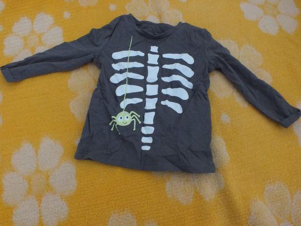 Bluzeczka zielona ze szkieletem