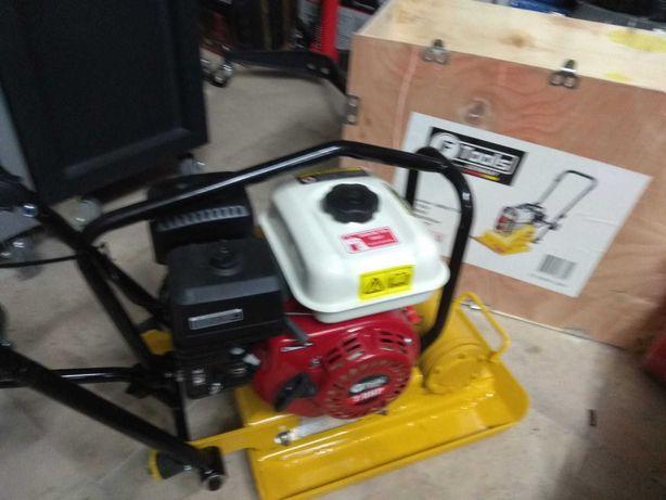 Compactador Placa Vibratória a Gasolina F-Tools 196cc Nova