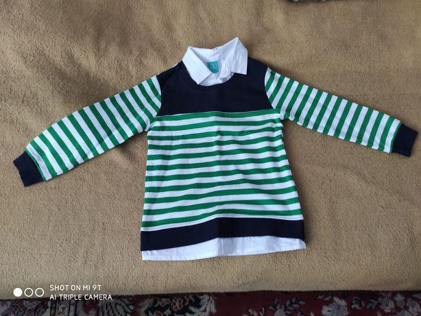 Nowy sweterek z białą koszulą 116 chłopiec