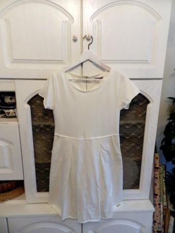 Sukienka RUBIN, kremowa ecru, rozmiar 40 koktajlowa egzaminowa weselna