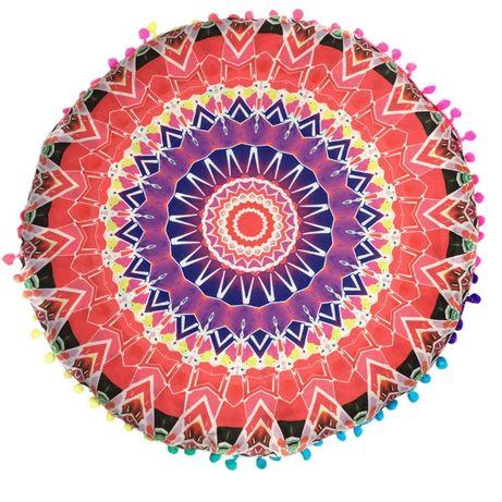 Poduszka do siedzenia okrągła pufa kolorowa mandala medytacja joga zen