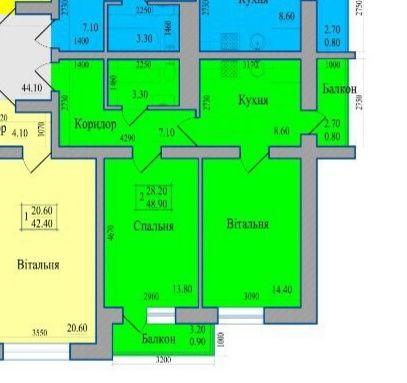 Продам 2-х кімнатну квартиру біля центру!