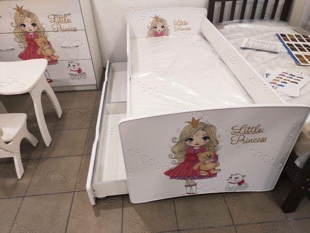 Ліжко з бортиком для дівчинки /кровать для девочки принцеса КіндерКул