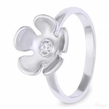Кольцо «флора» из серебра 925 пробы от КЮЗ