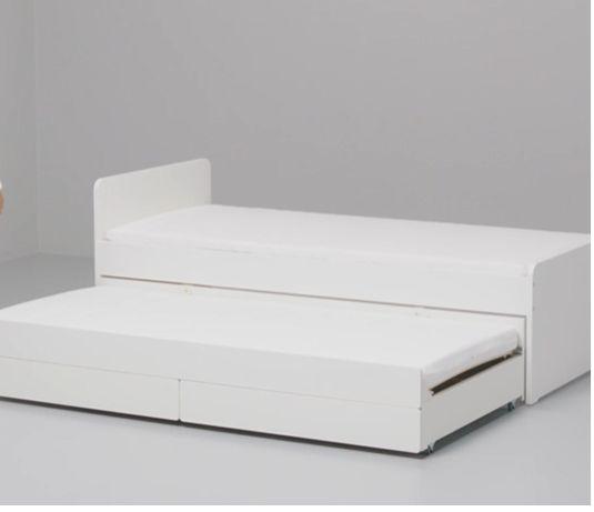 IKEA łóżko, rama łóżka z łóżkiem dolnym/pojem, biały90x200 cm