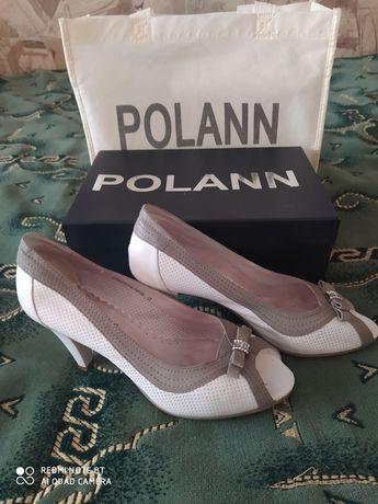 Кожанные туфли Polann 37р