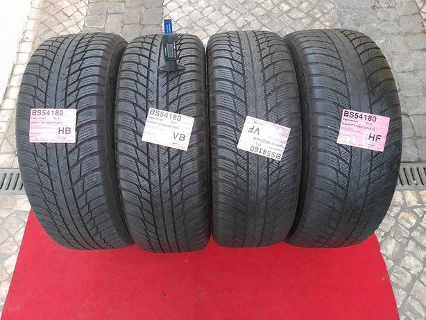 4 pneus 205/60 R16 95H Bridgestone M+S snow, posso vender só 2