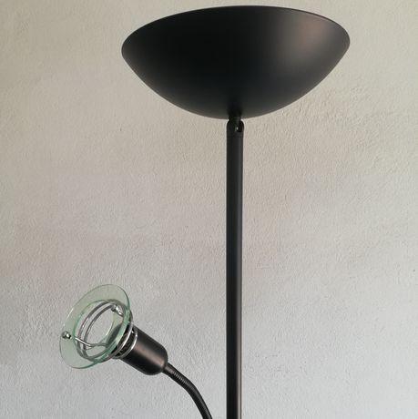 Lampa stojąca, podłogowa z regulacją natężenia światła, czarna
