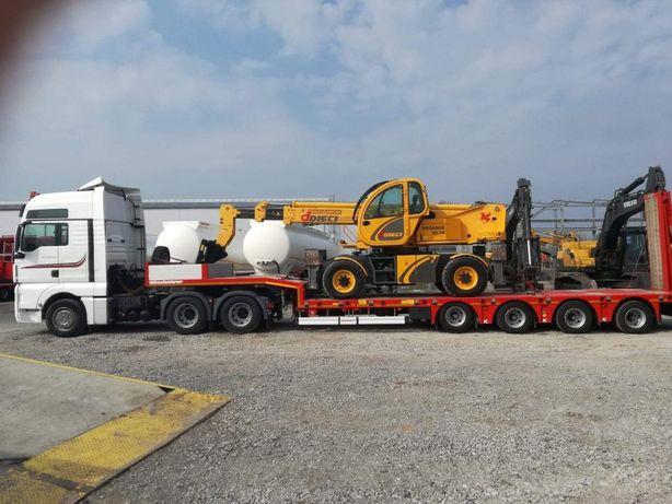 Transport niskopodwoziowy, przewóz maszyn i materiałów, Wywrotki,