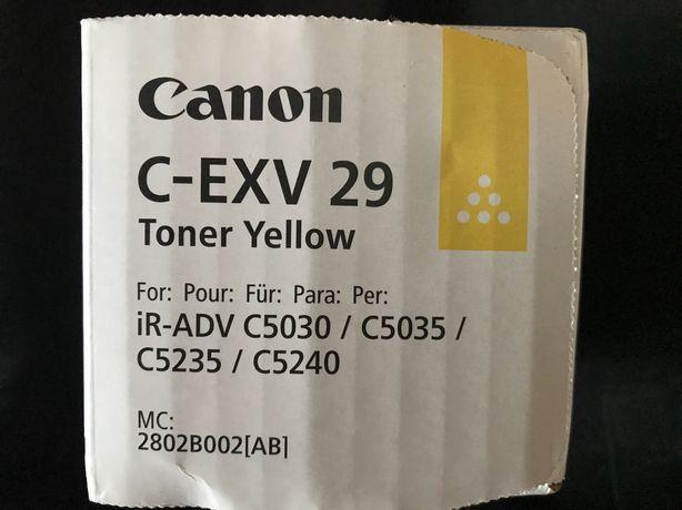 ORIGINAL Canon Toner Amarelo C-EXV 29