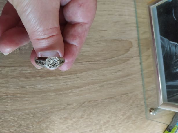 Кольцо серебро р.19