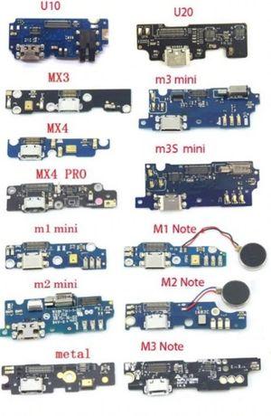 USB Шлейф плата Meizu M2 Note M3 Note M3s M5 M5s M6 Note U10 U20 MX4