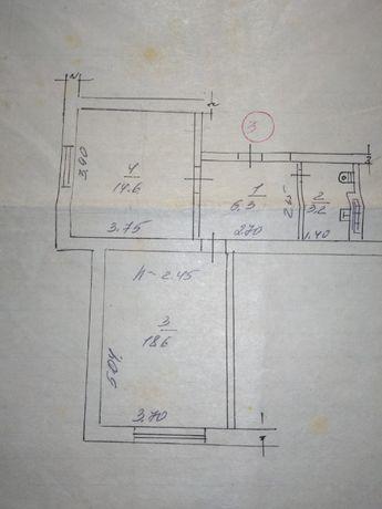 Двохкінатна квартира (двукомнатная квартира)