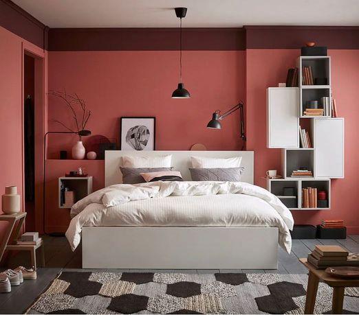 Łóżko Ikea Malm białe 160x200 + stelaż + 4 szuflady - Żory!