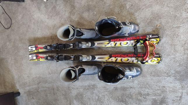 Atomic SX150 + buty Salomon + google