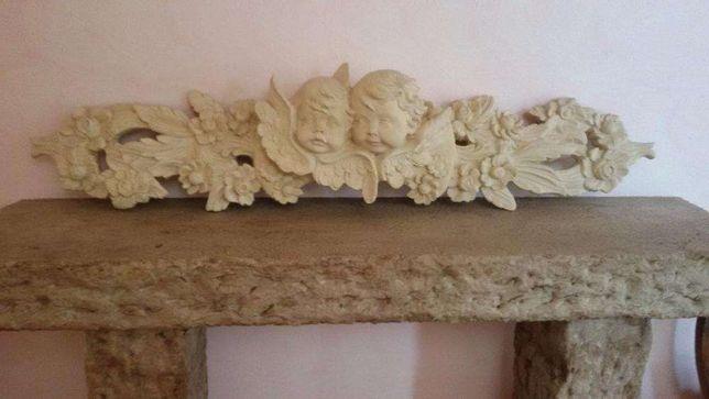 Anjos Barrocos, com sistema para colocar na parede.
