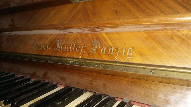 Pianino przedwojenne Heinrich Muller, Danzig