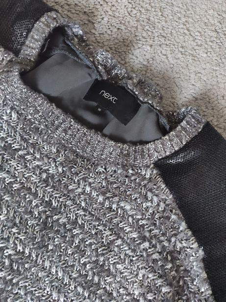Next r. 16 - 44 elegancki sweter o różnych fakturach
