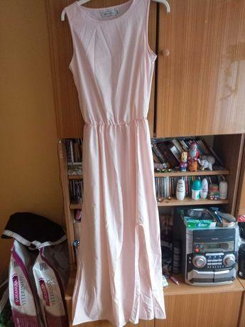 MARKA MISSLOOK Sukienka kolor pódrowy róż długa sukienka