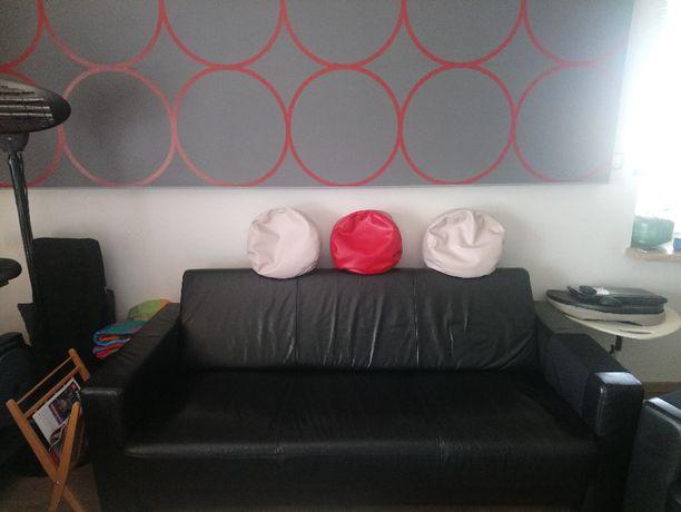 Kanapa / sofa skórzana + 2 fotele