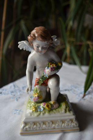 figurka amorka aniołka porcelana Drezno Napoli