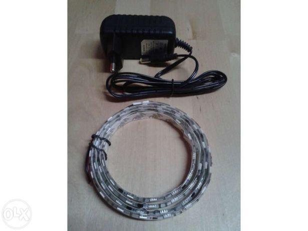 Conjunto: Fita led 1m smd 5050 + plug + transformador 12v 2a