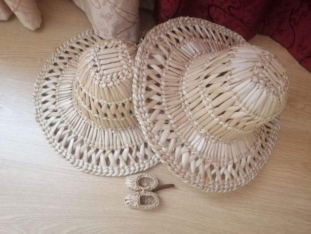 Шляпа плетёная из рогозы. Бриль плетений з рогозу