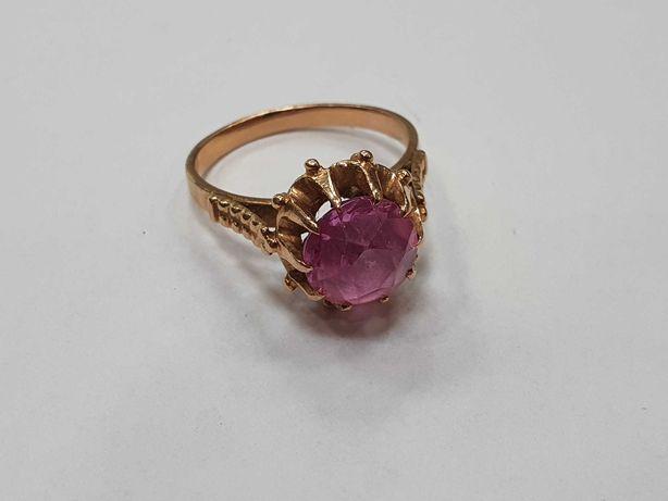 Retro! Piękny złoty pierścionek/ Radzieckie 583/ 4.49 gram/ R17