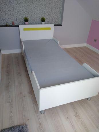 Łóżko drewniane białe 90x200