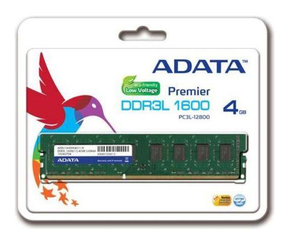 Pamięć jak nowa ADATA DDR3L, 4GB, 1600MHz, CL11 (ADDU1600W4G11-S)
