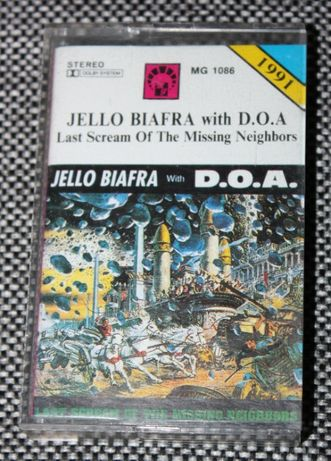 Kaseta JELLO BIAFRA with D.O.A. Last Scream Of The Missing Neighbors