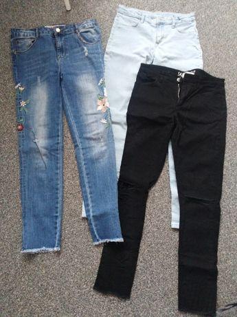 3 pary jeansów H&M 150-152