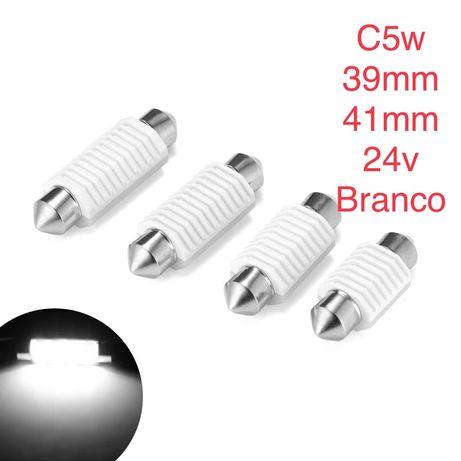 LED tubular C5W 24v - 41mm Branco