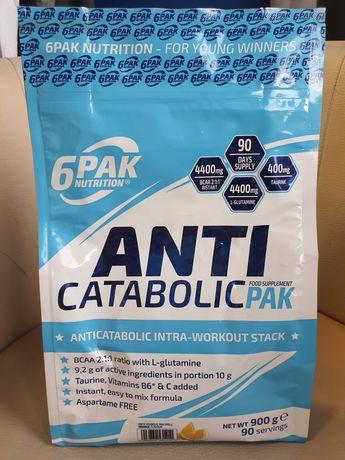 AMINOKWASY 6PAK Anti Carabolic Pak 900g BCAA Glutamina